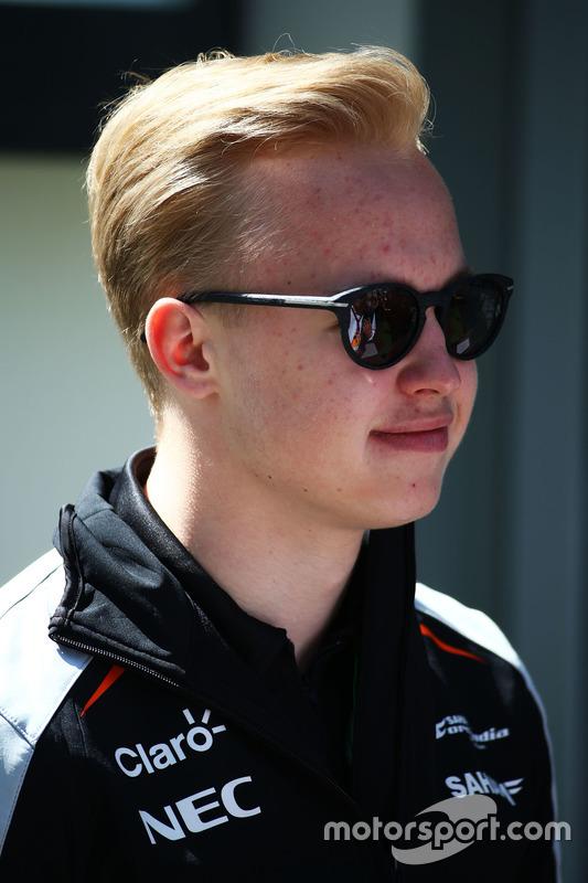 Nikita Mazepin, Sahara Force India F1 Team piloto de desarrollo