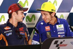 Dani Pedrosa, Repsol Honda Team; Valentino Rossi, Yamaha Factory Racing