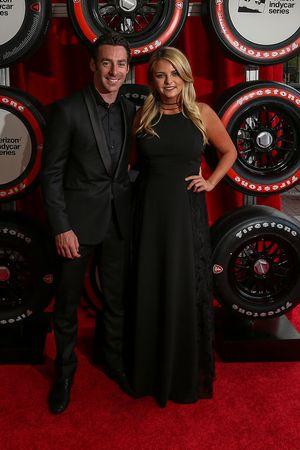 Simon Pagenaud, Team Penske Chevrolet and girlfriend Hailey