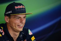 Max Verstappen, Red Bull Racing in the FIA Press Conference