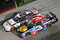 Ty Dillon, Richard Childress Racing, Chevrolet; Brad Keselowski, Team Penske, Ford