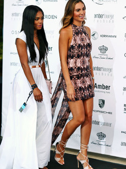 Brittny Ward, novia de Jenson Button, McLaren en el Amber Lounge Fashion Show