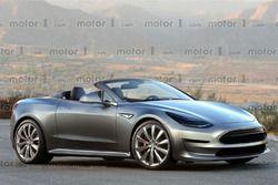 Rendu informatique du roadster 2019 de Tesla