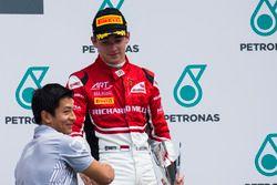 Rio Haryanto, Charles Leclerc, podium GP3 Series, Malaysia