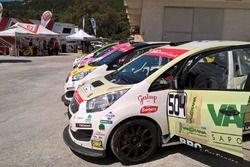 Le vetture della Green Hybrid Cup schierate prima della partenza