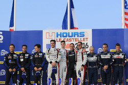 LMP3 podium: winners Eric Trouillet, Paul Petit, Enzo Guibbert, Graff Racing, second place David Hal