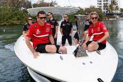Enduro Cup arrival with Champions Garth Tander and Warren Luff with leading 2016 pairings Will Davison and Jonathon Webb, Shane van Gisbergen and Alex Premat, Nick Percat and Cameron McConville