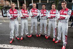 #7 Audi Sport Team Joest Audi R18: Marcel Fassler, Andre Lotterer, Benoit Tréluyer, #8 Audi Sport Team Joest Audi R18 e-tron quattro: Lucas di Grassi, Loic Duval, Oliver Jarvis