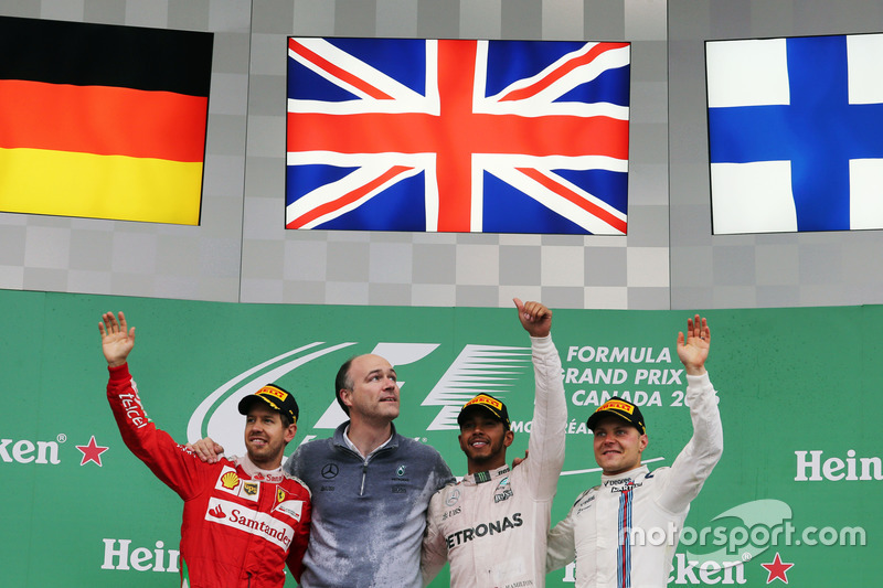 2016: 1. Lewis Hamilton, 2. Sebastian Vettel, 3. Valtteri Bottas