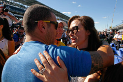 Emma Dixon gets a hug from Tony Kanaan