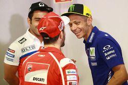 Danilo Petrucci, Pramac Racing, Andrea Dovizioso, Ducati Team, Valentino Rossi, Yamaha Factory Racin
