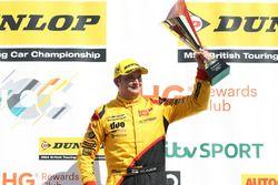 Podium: second place Mat Jackson, Motorbase Performance Ford Focus