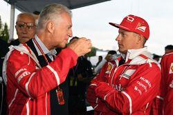 Piero Lardi Ferrari, vice-président Ferrari et Kimi Raikkonen, Ferrari au 70e anniversaire de Ferrari
