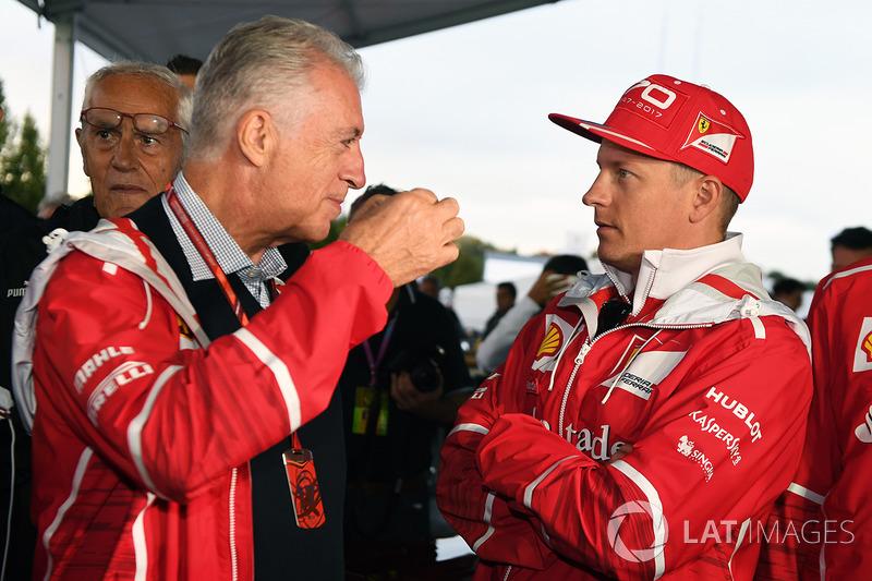 Piero Lardi Ferrari, Vicepresidente de Ferrari y Kimi Raikkonen, Ferrari en el Ferrari 70 aniversari