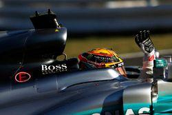 Race winner Lewis Hamilton, Mercedes AMG F1 W08