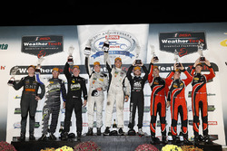 PC podium: winners Garett Grist, Tomy Drissi, John Falb, BAR1 Motorsports, second place Don Yount, B