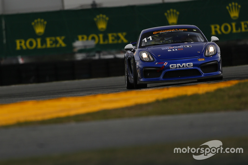 #11 GMG Racing Porsche Cayman GT4 MR: Elias Sabo, James Sofronas, Matthew Halliday