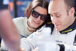 #93 Michael Shank Racing Acura NSX: Katherine Legge, #86 Michael Shank Racing Acura NSX: Jeff Segal
