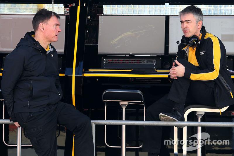 Alan Permane, Renault Sport F1 Team, Chefingenieur; Nick Chester, Renault Sport F1 Team, Technikchef