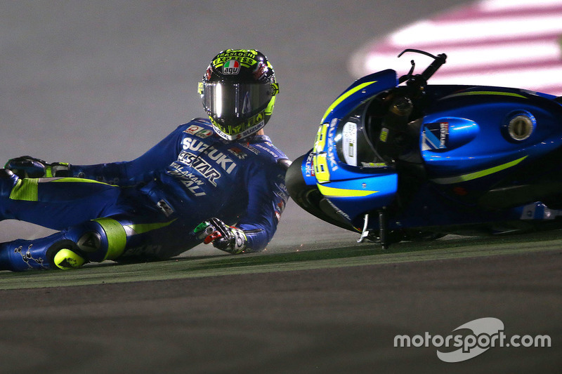 Andrea Iannone, crashes