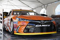 The car of Carl Edwards, Joe Gibbs Racing Toyota goes through inspection