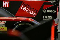 Abschiedsbotschaft am #8 Audi Sport Team Joest, Audi R18: Lucas di Grassi, Loic Duval, Oliver Jarvis