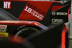 Un message d'adieu sur la #8 Audi Sport Team Joest Audi R18: Lucas di Grassi, Loic Duval, Oliver Jarvis