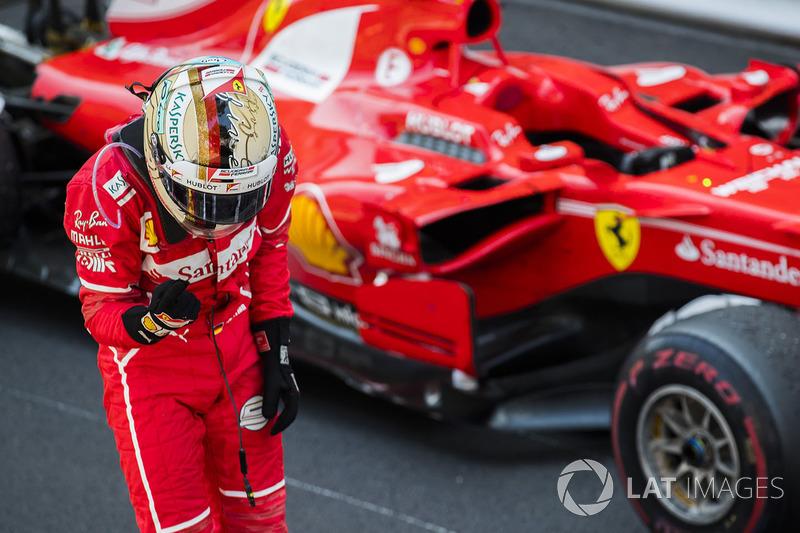 Себастьян Феттель после победы в Гран При Монако
