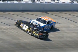 Crash: Joey Gase, Jimmy Means Racing, Chevrolet; Spencer Gallagher, GMS Racing, Chevrolet (Screensho