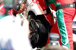 The car of Tiago Monteiro, Honda Racing Team JAS, Honda Civic WTCC after his crash