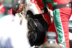 The car of Tiago Monteiro, Honda Racing Team JAS, Honda Civic WTCC after his crash