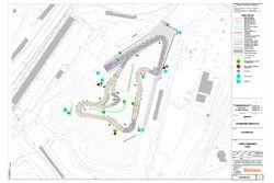 Layout der Rallycross-Piste in Silverstone