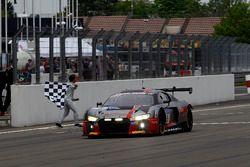 Checkered flag for #9 Audi Sport Team WRT, Audi R8 LMS: Nico Müller, Marcel Fässler, Robin Frijns, René Rast