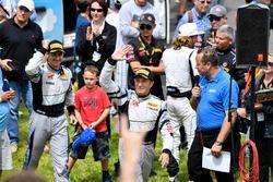 Race winners Dane Cameron, Spencer Pumpelly, Magnus Racing