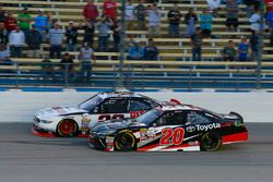 Sam Hornish Jr, Discount Tire Ford Mustang and Christopher Bell, Joe Gibbs Racing Toyota