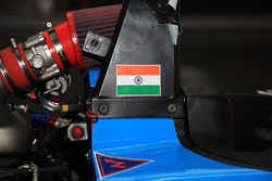 MRF Challenge car detail with India flag