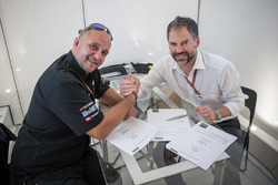 Frédéric Corminboeuf, Team Manager CGBM Evolution and Jens Hainbach, KTM Motorsport Vice President o