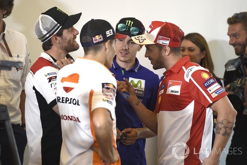 Maverick Viñales, Yamaha Factory Racing, Cal Crutchlow, Team LCR Honda, Marc Marquez, Repsol Honda Team, Andrea Dovizioso, Ducati Team