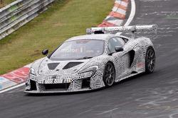 McLaren 675 LT race car spy shot