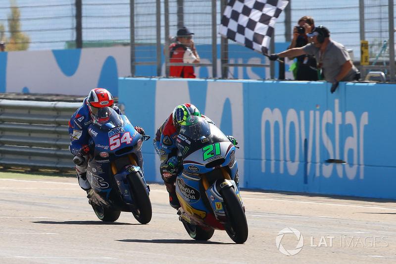Il vincitore della gara Franco Morbidelli, Marc VDS