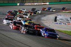 Restart: Elliott Sadler, JR Motorsports Chevrolet, Ryan Preece, Joe Gibbs Racing Toyota