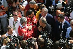 Maurizio Arrivabene, Ferrari Team Principal and Sergio Marchionne, CEO FIAT