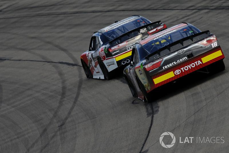 Ben Kennedy, GMS Racing Chevrolet, Kyle Benjamin, Joe Gibbs Racing Toyota
