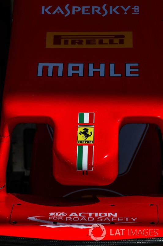 Dettaglio del naso di Ferrari SF70-H
