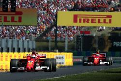 1. Sebastian Vettel, Ferrari SF70-H, 2. Kimi Raikkonen, Ferrari SF70-H