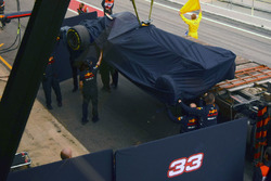 The Red Bull Racing RB13 of Max Verstappen, Red Bull Racing is recovered back to the pits
