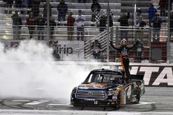 Christopher Bell, Kyle Busch Motorsports Toyota celebrates his win with a burnout