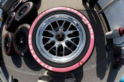 Pippa Mann, Dale Coyne Racing Honda special pink tire