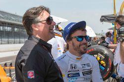 Fernando Alonso, Andretti Autosport Honda with team owner Michael Andretti