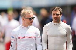 Felix Rosenqvist, Mahindra Racing, and Jérôme d'Ambrosio, Dragon Racing